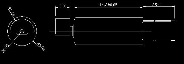 厂家直销直流空心杯震动电机