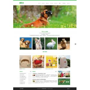 简约宠物网站模板